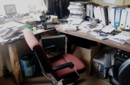Office before decluttering