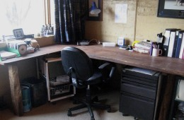 Office after decluttering