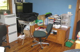 Home Office before decluttering