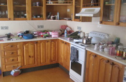 Kitchen before organising